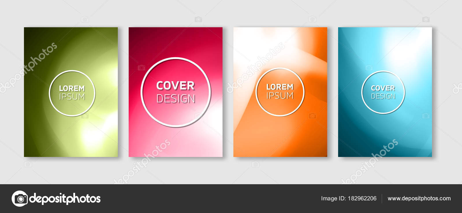 Diseño de cubiertas de Vector mínimo. Ilustraciones de colores ...