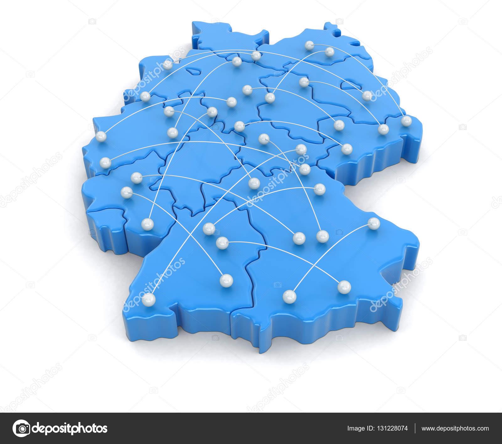 Flugrouten Karte.Karte Von Deutschland Mit Flugrouten Bild Mit