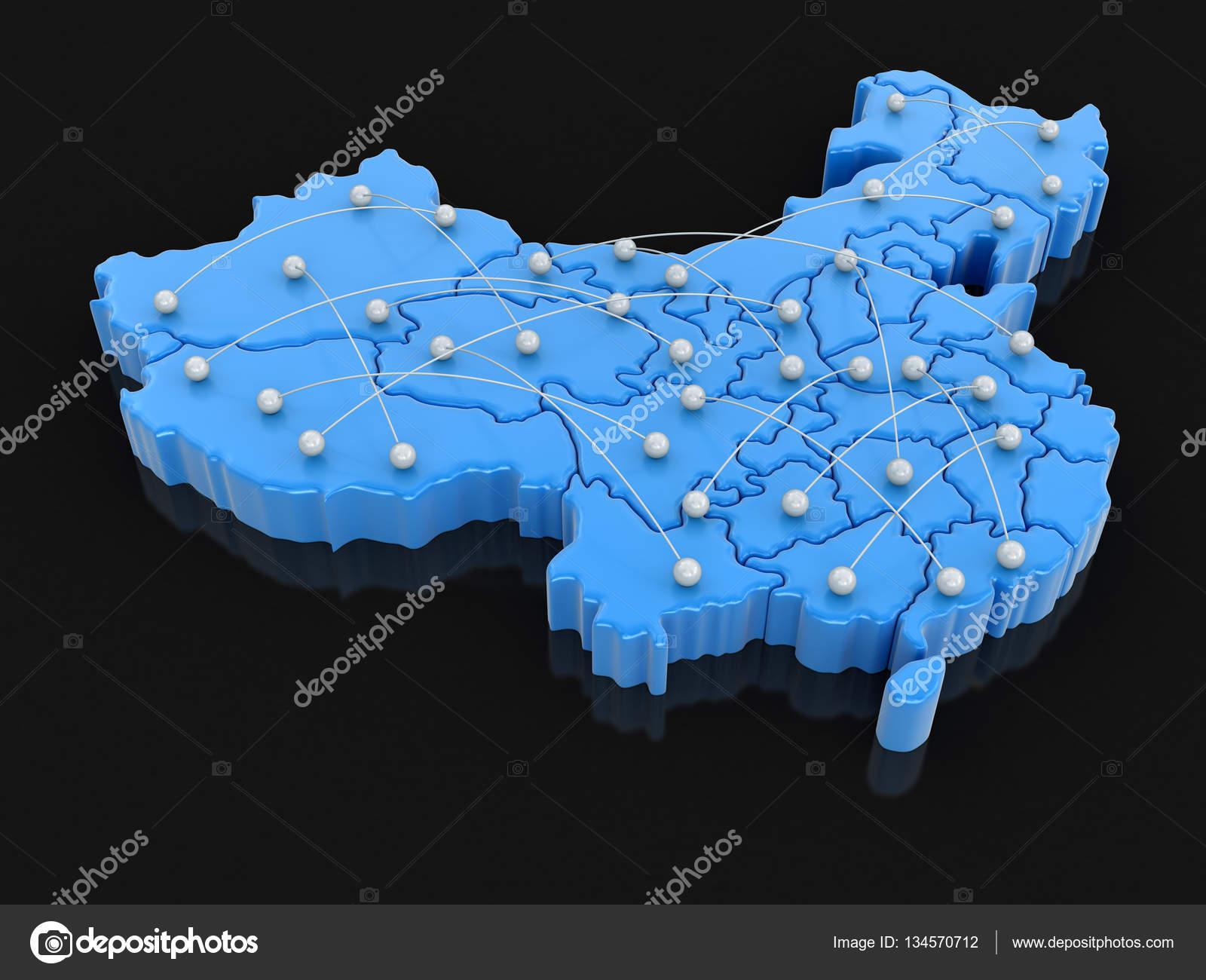 Flugrouten Karte.Karte Von China Mit Flugrouten Bild Mit Beschneidungspfad