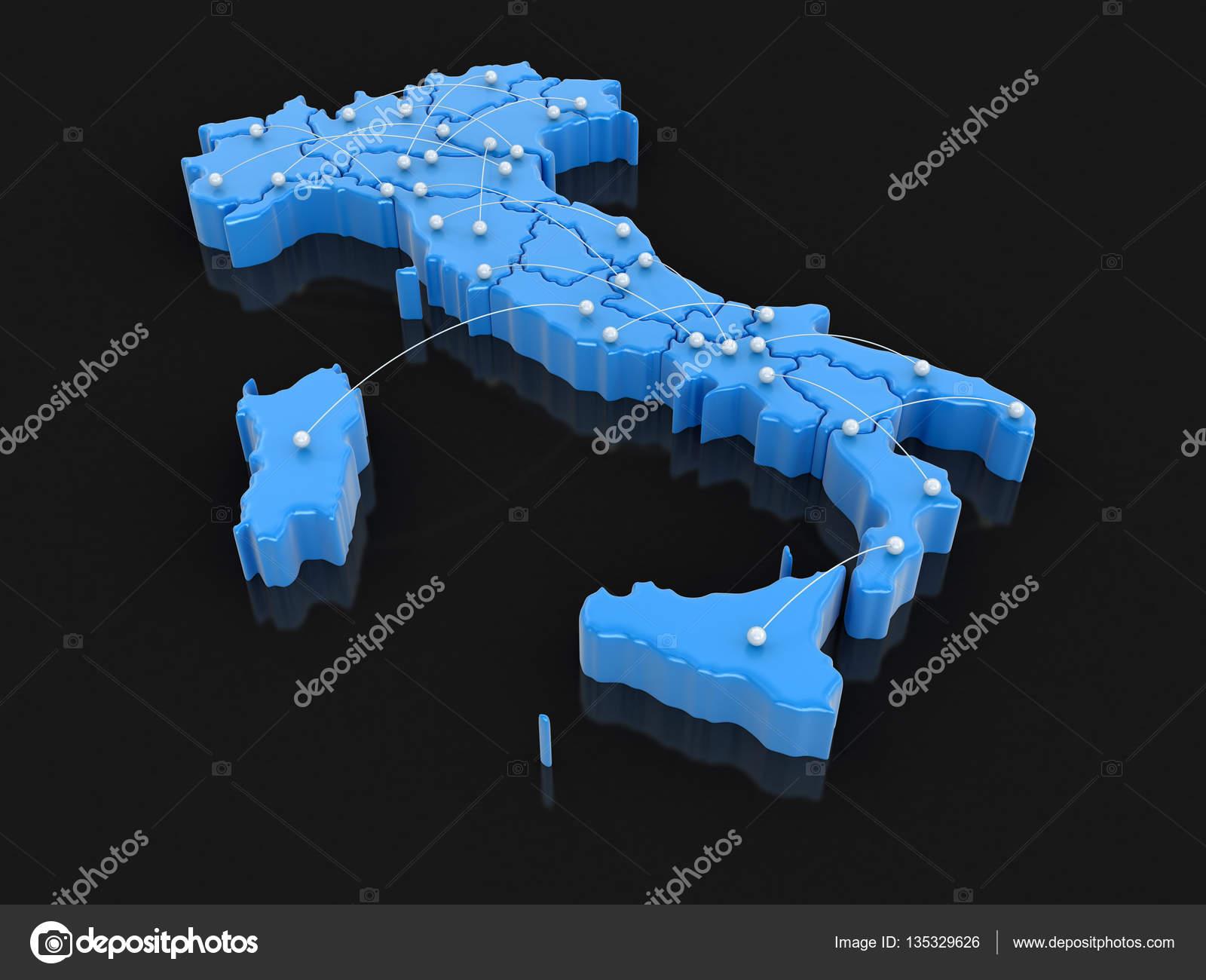 Flugrouten Karte.Karte Von Italien Mit Flugrouten Bild Mit Beschneidungspfad