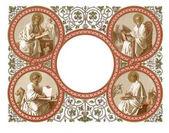 Fotografie Frame with the apostles. On white background