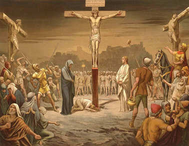 The crucifixion and death of Jesus Christ