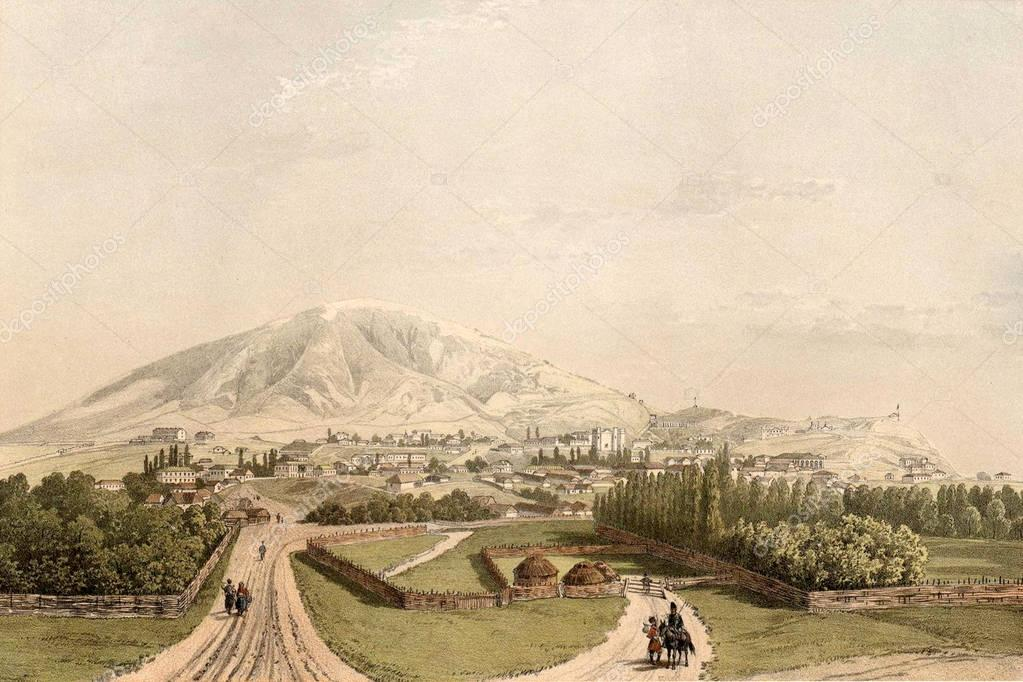 Historic landscapes of the Caucasus mountains.