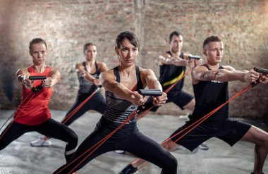 Powerful exercise with resistance band