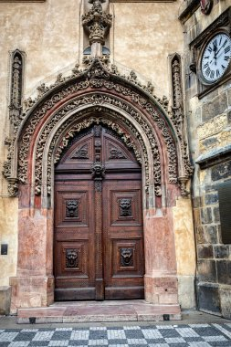 Old gate in baroque style in Prague