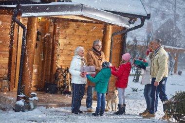 Christmas, family, holiday- gathering family