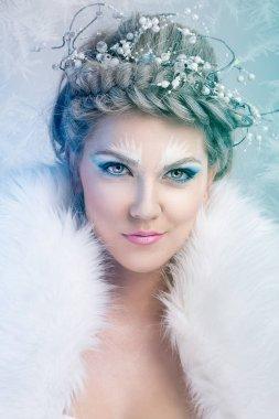 Glamorous winter queen