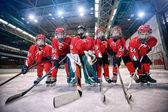 Mládežnický hokej tým - děti hrají hokej