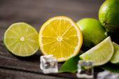 szeletelt citrom nyári frissesség gyümölcsök háttér közelről