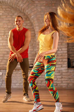 Male and female dancers dancing
