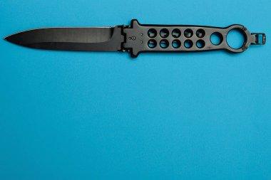 Steel butterfly knife (balisong)