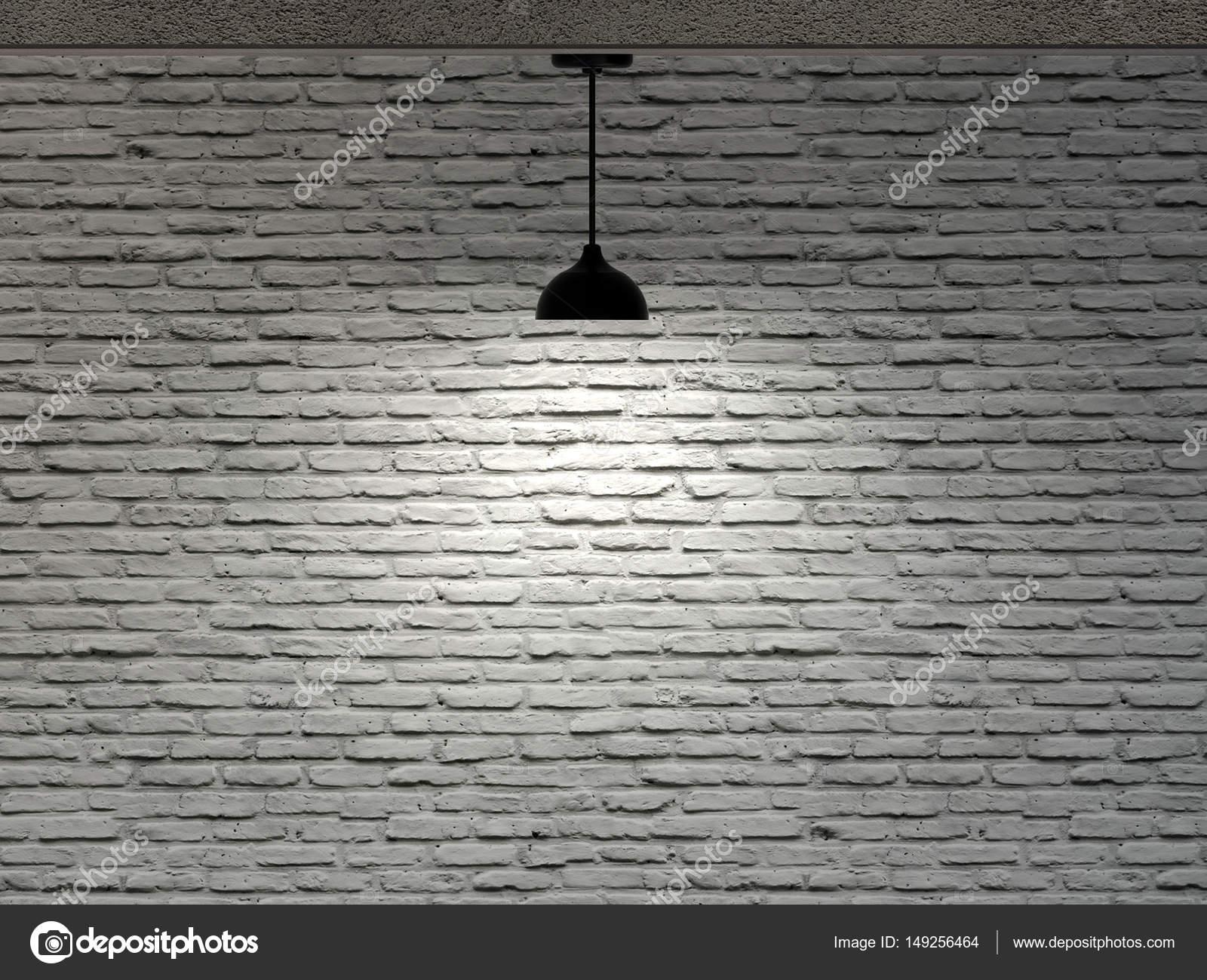 Plafoniera Muro : Muro di mattoni e una plafoniera u foto stock bruesw
