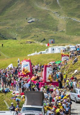 St. Michel Madeleines Caravan in Alps - Tour de France 2015