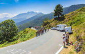 The Peloton on Col dAspin - Tour de France 2015
