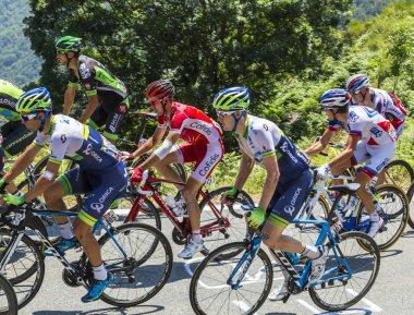 The Peloton on Col d'Aspin - Tour de France 2015