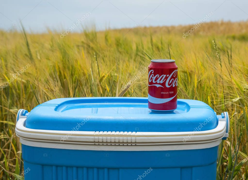 Coca Cola Can in the Field - Tour de France 2015