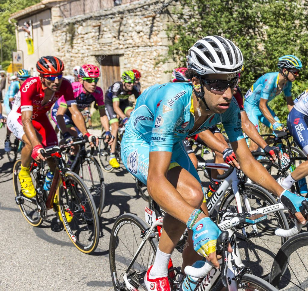 The Cyclist Fabio Aru on Mont Ventoux - Tour de France 2016
