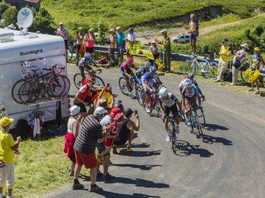 Group of Cyclists on Col du Grand Colombier - Tour de France 201