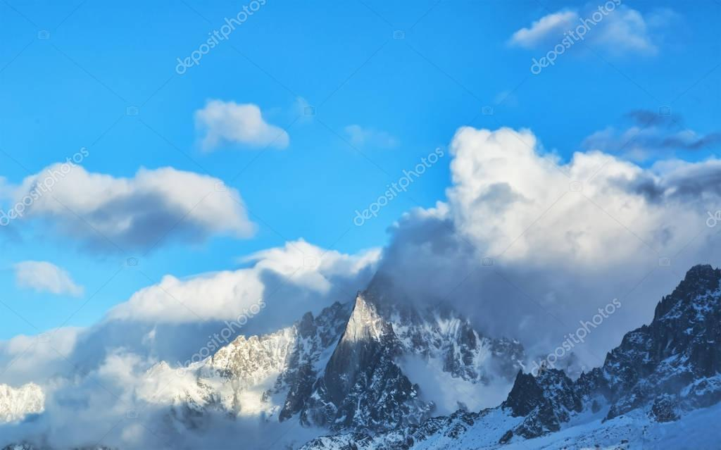 Landscape of high peaks in Alps