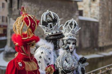 Group of Disguised People - Annecy Venetian Carnival 2013
