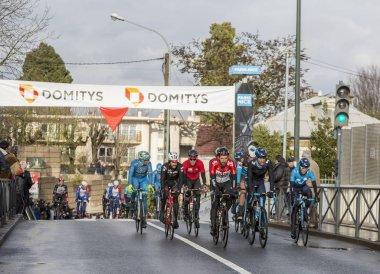 Group of Cyclists - Paris-Nice 2018