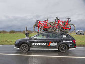 The Car of Trek���Segafredo Team - Paris-Nice 2017