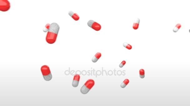 Pharma-Kapseln Hintergrund.