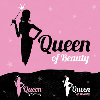Queen of Beauty logo design.