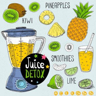 Juice detox set.
