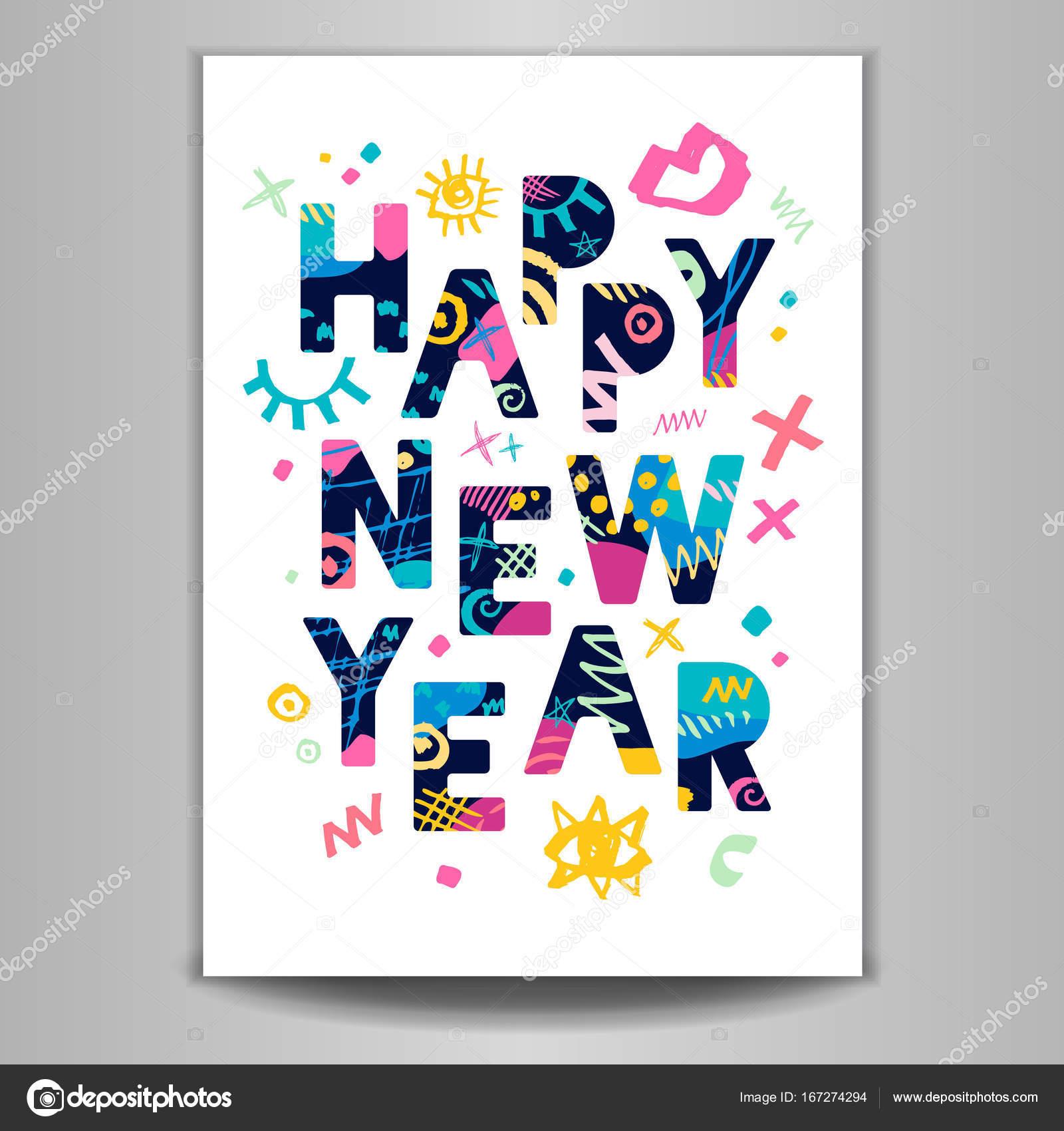 2018 happy new year greeting card stock vector iraidabearlala 2018 happy new year greeting card stock vector kristyandbryce Gallery