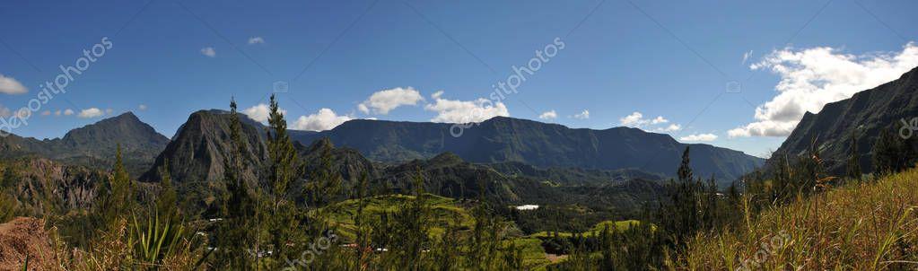 Large View of Salazie Cirque of Reunion Island