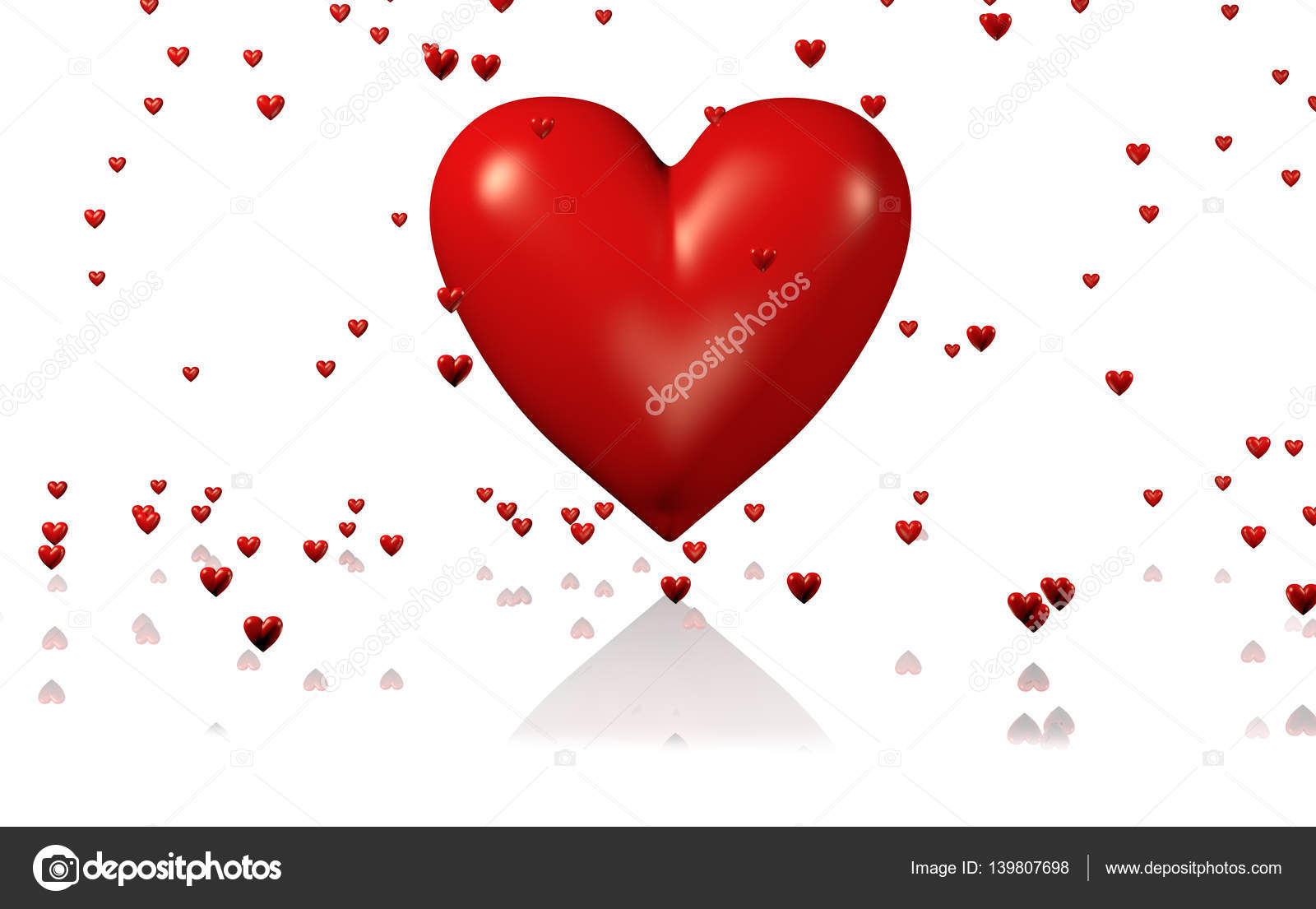 One Big And Red Heart With Lots Of Tiny Hearts Stock Photo C Shkyo30 139807698