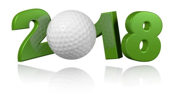 Golfový míček 2018 v nekonečné rotace