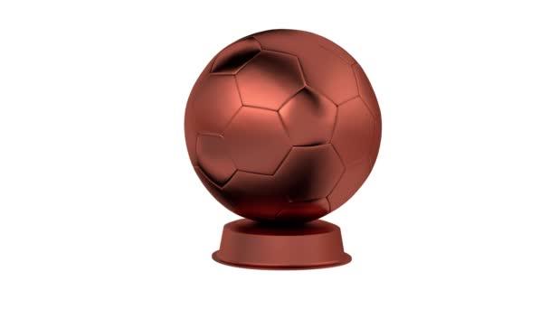 Fotbalové Bronze Trophy v nekonečné rotace