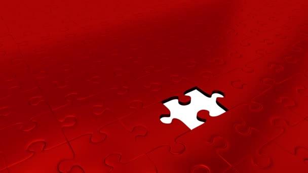 Jeden kus Puzzle zelené transformovat všechny ostatní červené dílky na zelené