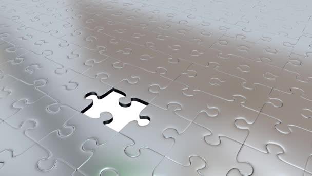 Jeden kus Puzzle zelené transformovat všechny ostatní Silver dílky na zelené