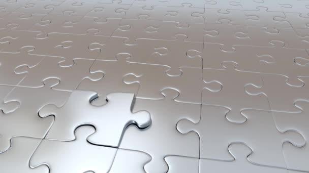 Jeden kus Puzzle šedá unikající ze všech ostatních částí Grey a stává červená