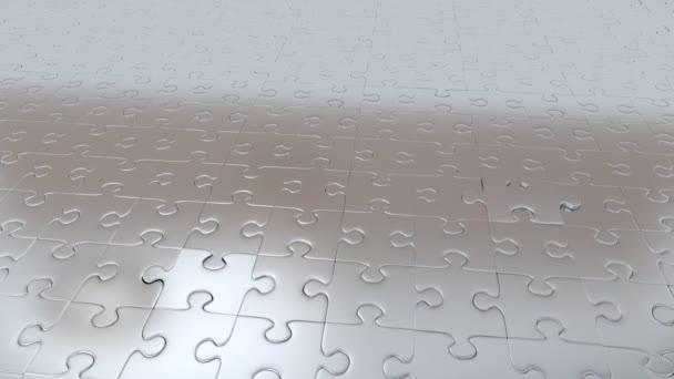 Čtyři dílky skládačky Grey unikající ze všech ostatních částí Grey a stává červená