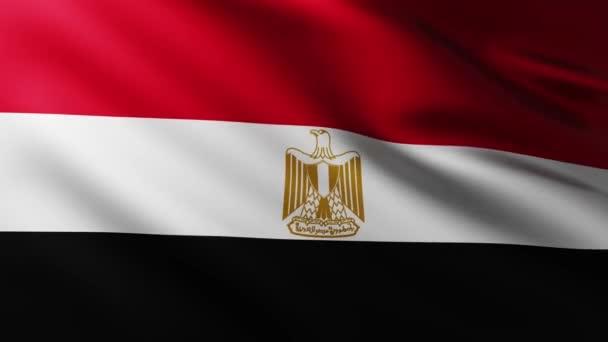 Nagy egyiptomi zászló háttér fluttering a szél hullámmintákkal