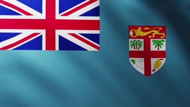Nagy zászló a Fidzsi háttér csapkodott a szél hullámmintázatú