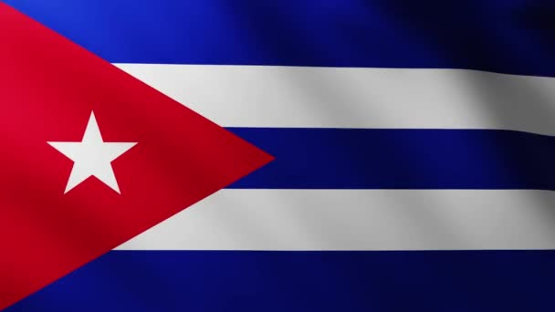 Large Cuban Flag background fluttering in the wind with wave patterns