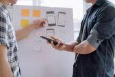 Webdesigner-Planungsanwendung für Mobiltelefone.