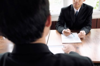 Business situation, job interview concept.