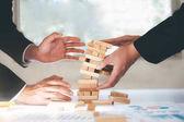 Podnikatelské riziko, strategie a hoblování koncept idea