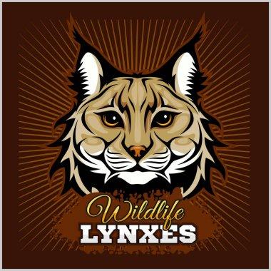 Lynxes - vector emblem.