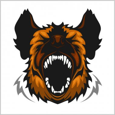 Head of laughing hyena