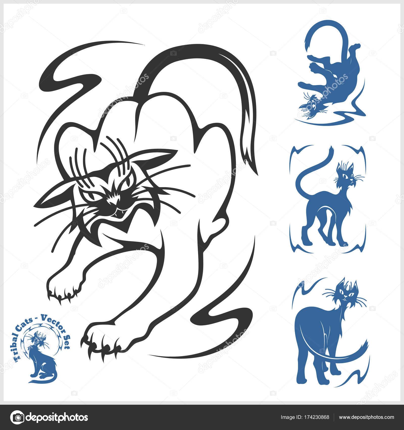Dibujos Plantillas Tribales Felinos Tribales Para Tatuaje