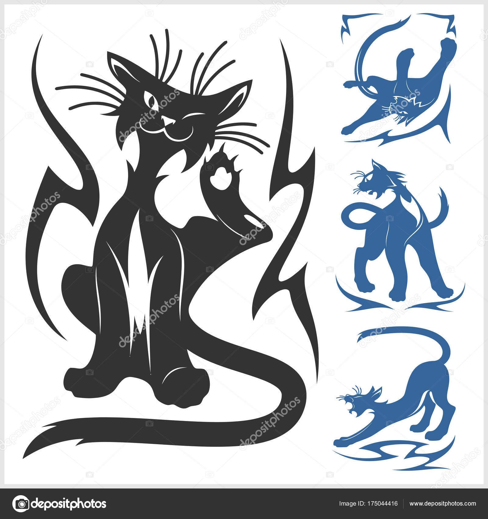 Dibujos Tatuaje Gato Tribal Felinos Tribales Para Tatuaje