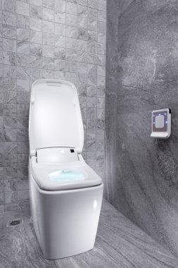 View of nice modern toilet room.