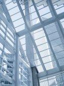 Fotografie Pohled na moderní modré barevné moderní úřad města budov